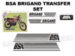 BSA Brigand Transfer Decal Set DBSA22 Black